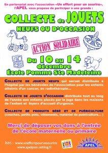 L'APEL organise une collecte de jouets